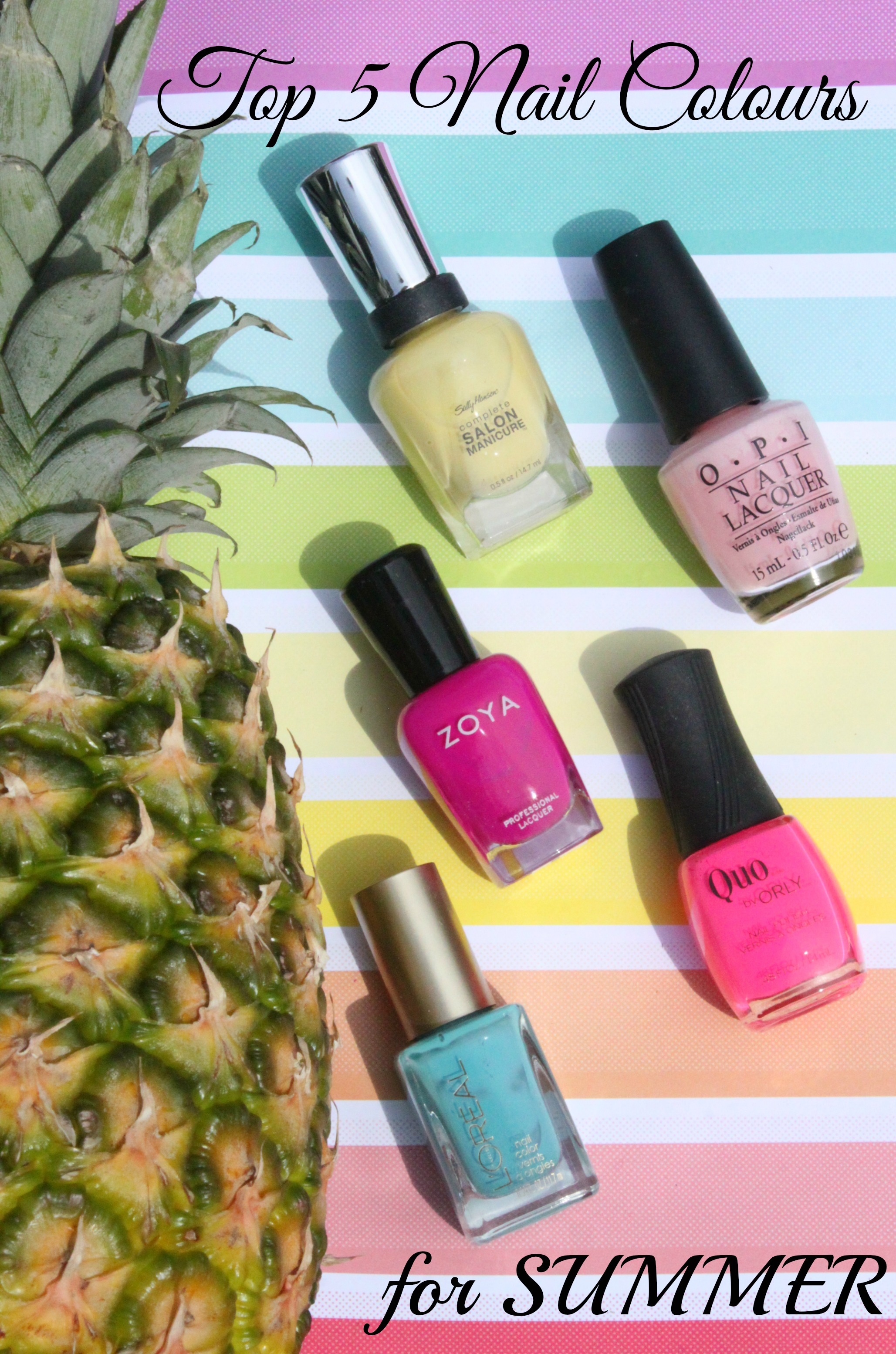 Five Favourite Nail Colours for Summer