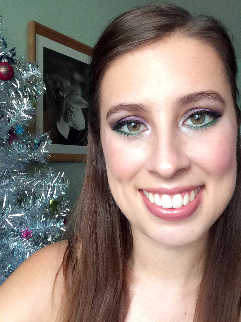 Colourful Christmas-y Makeup