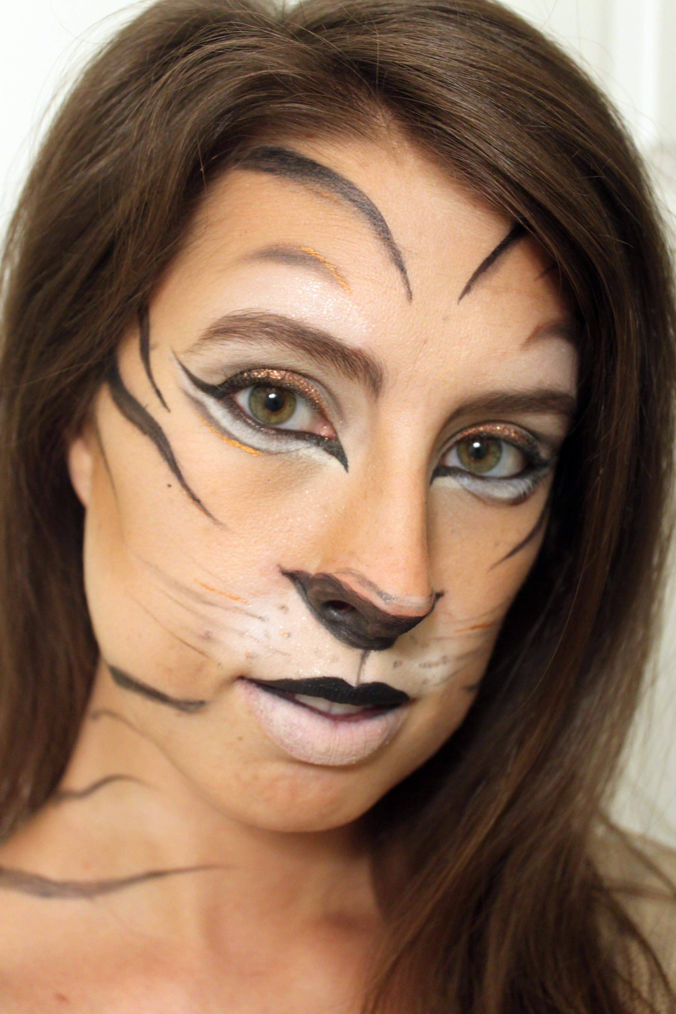 Tiger Makeup for Halloween