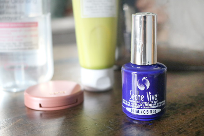 Seche Vive Top Coat Makes Painting Nails Less Of A Chore Because It Dries So Fast!