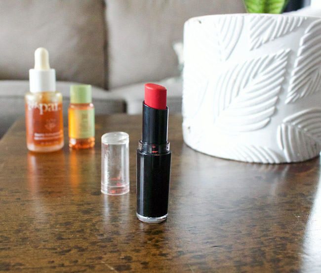 April 2019 Beauty Favourite - Wet N Wild Purty Persimmon Lipstick