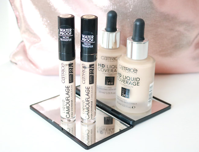 CATRICE Liquid Camouflage Concealer and HD Liquid Coverage Foundation