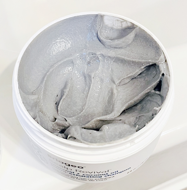 BRIOGEO Scalp Revival Charcoal + Coconut Oil Micro-Exfoliating Shampoo Close Up