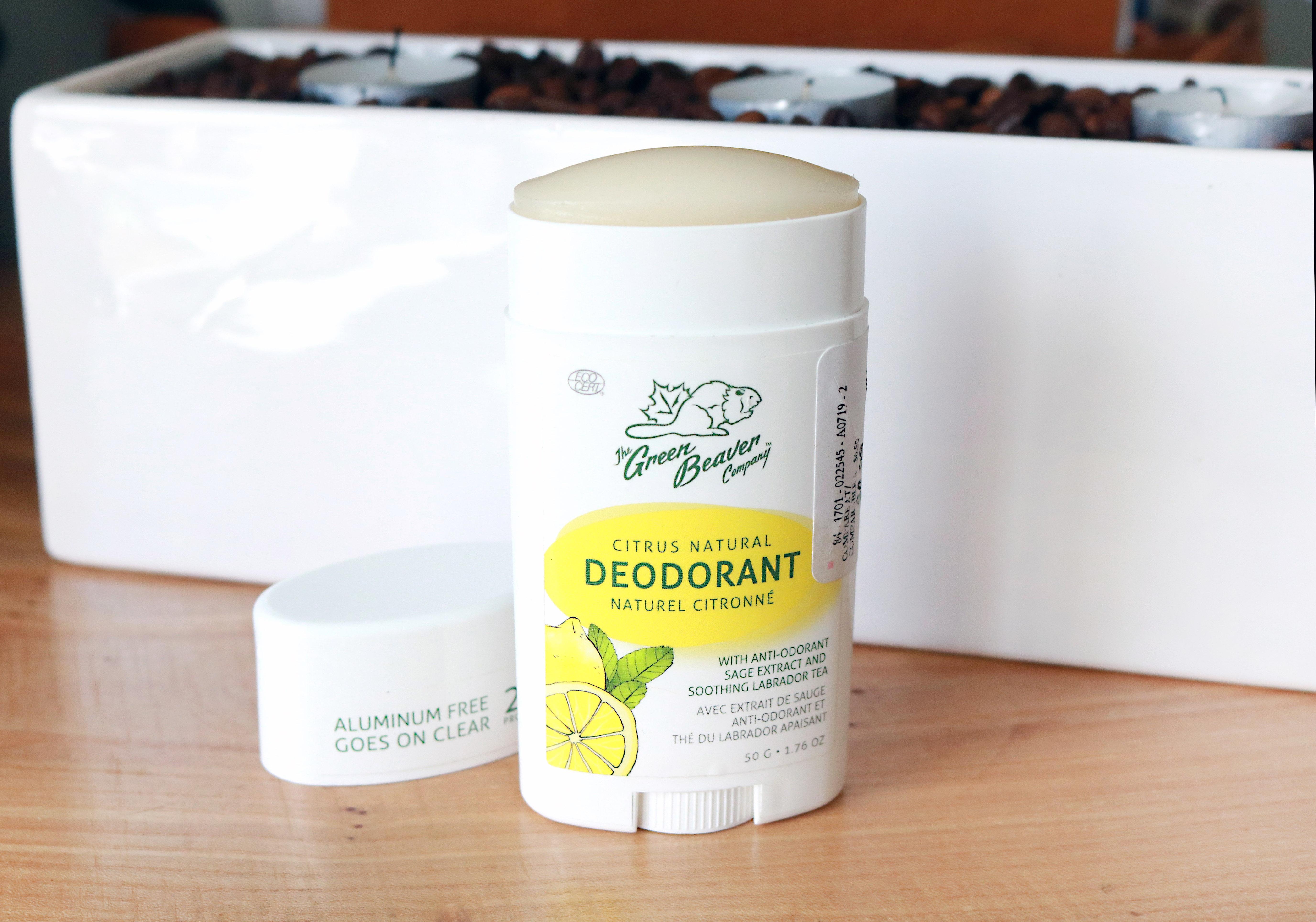 Green Beaver Natural Citrus Deodorant Review
